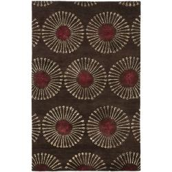 Safavieh Handmade Soho Zen Coffee/ Brown New Zealand Wool Rug (9'6 x 13'6)