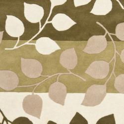 Safavieh Handmade Soho Garden Green New Zealand Wool Rug (5'x 8')