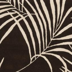 Handmade Soho Fern Brown New Zealand Wool Rug (5'x 8')