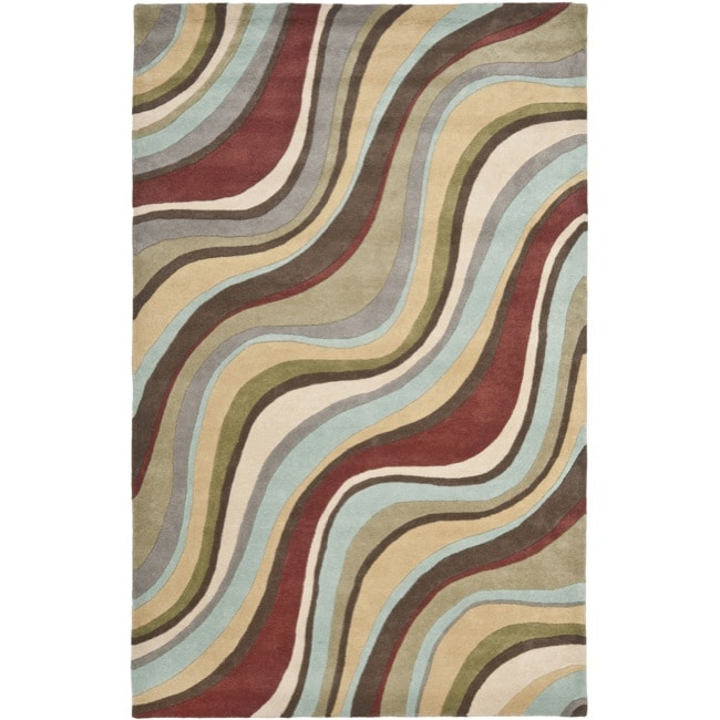 Safavieh Handmade Soho Waves New Zealand Wool Rug (3'6 x 5'6')