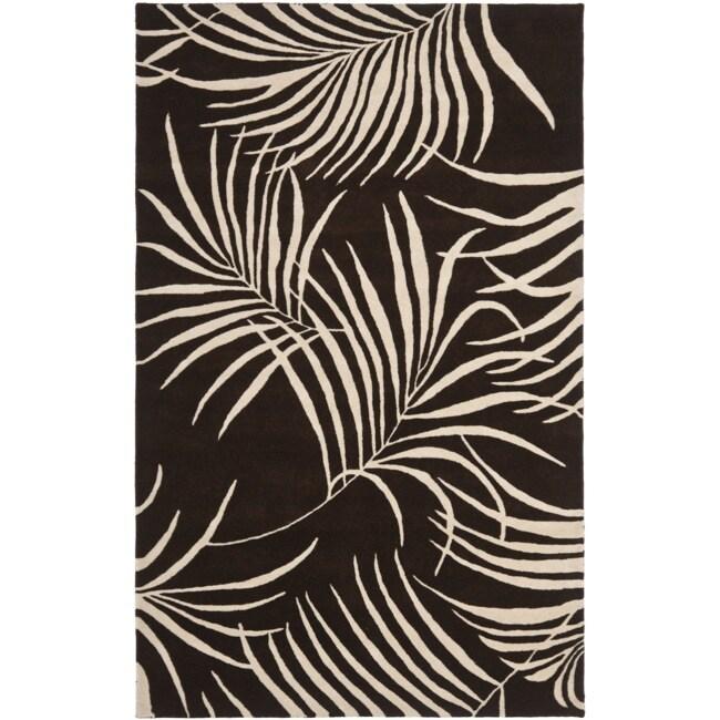 Safavieh Handmade Soho Fern Brown New Zealand Wool Rug (7'6 x 9'6)