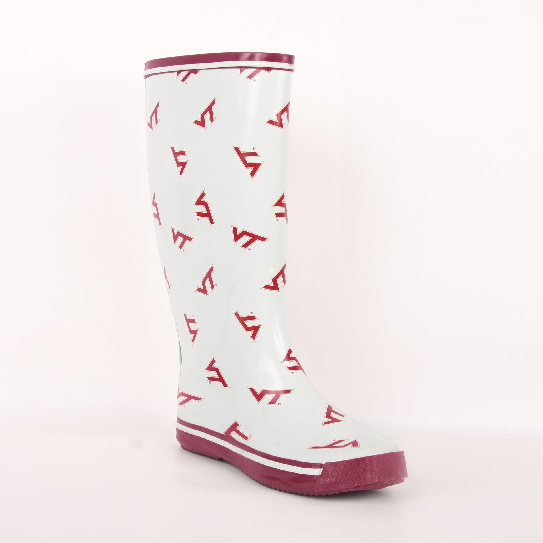 Virginia Tech Hokies Women's Scattered Logo Rain Boots