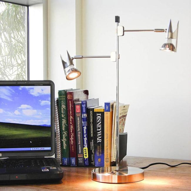 TAO Digital Desk Lamp with LED Retractable Insignia Light Heads