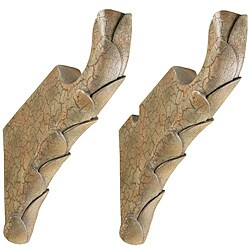 Menagerie 'Cabana' Tuscan Crackle 2-inch Rod-compatible Decorative Brackets