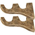 Menagerie Tuscan Crackle 2-inch Compatible Double-well Curtain Rod Brackets