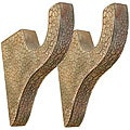 Menagerie Tuscan Crackle 2-inch Rod Brackets