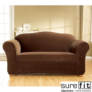Stretch Corduroy 3-piece Sofa Slipcover