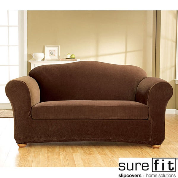 Sure Fit Stretch Corduroy 3-piece Sofa Slipcover