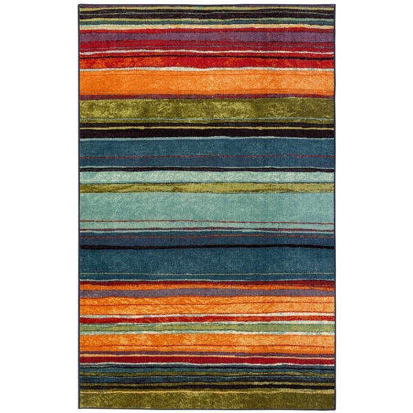 Rainbow Multi Stripe Rug (2'6 x 3'10)