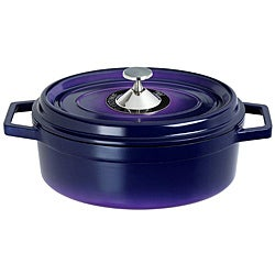 Art & Cuisine Cocotte Purple 3.8-quart Cast Aluminium Oval Roaster Pan