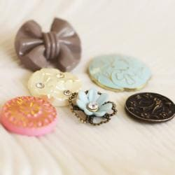 Prima Flowers Pixie Glen Vintage Buttons (Pack of 12)
