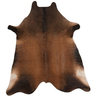 Handpicked Hacienda Argentinian Tan Cowhide Leather Rug (5' x 7')