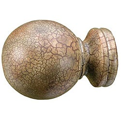 Menagerie Tuscan Crackle Ball Finial
