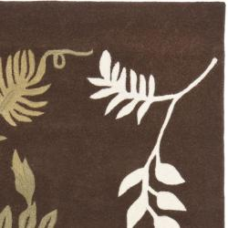 Safavieh Handmade Soho Twigs Brown New Zealand Wool Rug (2'6 x 8')