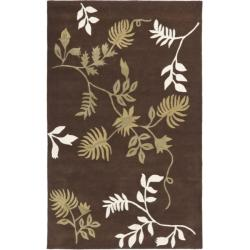 Handmade Soho Twigs Brown New Zealand Wool Rug  (2'6 x 8')