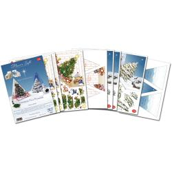 Flower Soft 'Christmas Tree' Pyramids Papercraft Kit
