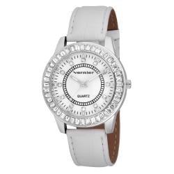 Vernier Woman's V11011 Round Baguette Bezel Fashion Watch