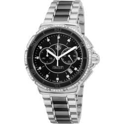 Tag Heuer Women's CAH1212.BA0862 'Formula 1' Black Ceramic Quartz Chronograph Watch