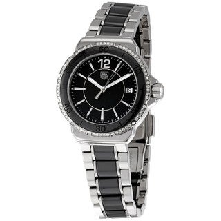 Tag Heuer Women's WAH1212.BA0859 'Formula 1' Black Diamond Dial Ceramic Watch