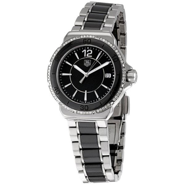 Tag Heuer Women's WAH1212.BA0859 'Formula 1' Black Diamond Dial Ceramic Watch