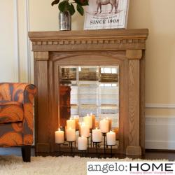 angelo:Home Aegean Mirrored Mantel Facade
