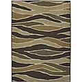 Fluidity Chocolate Indoor/Outdoor area Rug (5'x7')