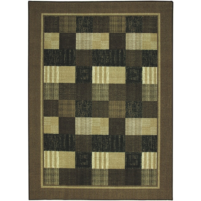 Somette Celebration Chocolate Indoor/Outdoor area Rug (5'x7')