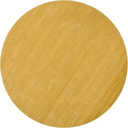 Hand-Tufted Mandara Yellow Contemporary Wool Rug (7'9 Round)