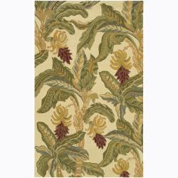 Hand-Tufted Mandara Transitional Cream Wool Rug (7'9 x 10'6)