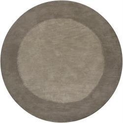 Hand-tufted Mandara Grey Premium Wool Rug (7'9 Round)
