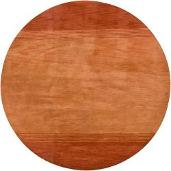 Hand-tufted Mandara Orange Wool Rug (7'9 Round)