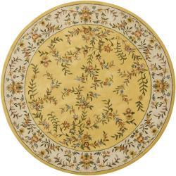 Hand-tufted Mandara Floral Wool Rug (7'9 Round)