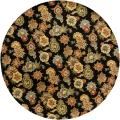 "Hand-Tufted Mandara Transitional Floral Black Wool Rug (7'9"" Round)"