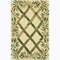 Hand-tufted Mandara Bamboo Wool Rug (7'9 x 10'6)