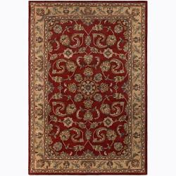 "Hand-tufted Mandara Red Persian Floral Wool Rug (5' x 7'6"")"