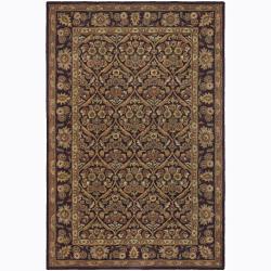 Hand-tufted Mandara Brown Floral Wool Area Rug (7'9 x 10'6)
