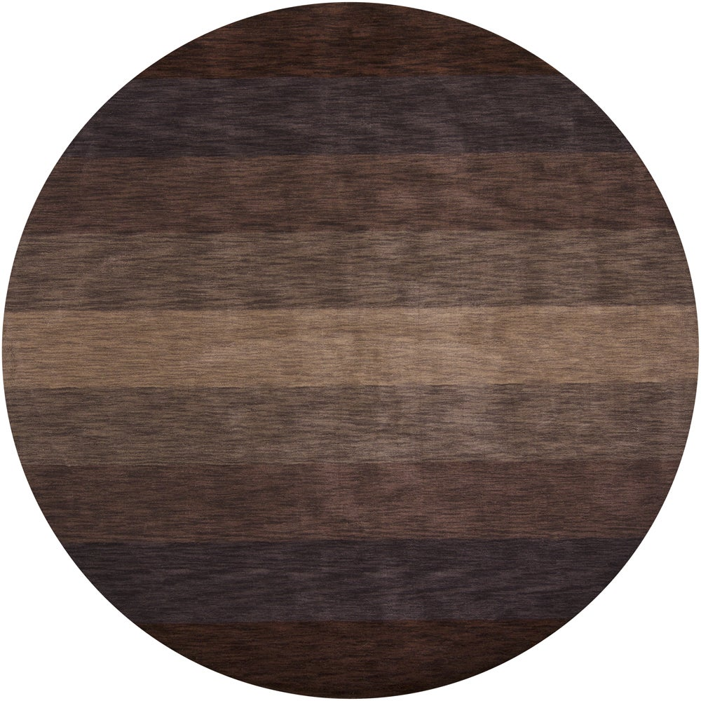 Artist's Loom Hand-tufted Contemporary Stripes Wool Rug (7'9 Round)
