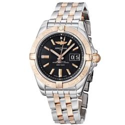 Breitling Men's 'Galactic' Stainless Steel Rose Gold Bracelet Watch