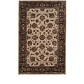 Tempest Hand-tufted Ivory/ Brown Rug (5' x 8')