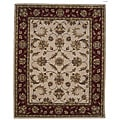 Tempest Hand-tufted Ivory/ Red Rug (4' x 6')