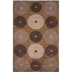 Dynasty Hand-tufted Brown/ Ivory Rug (7'9 x 10'9)