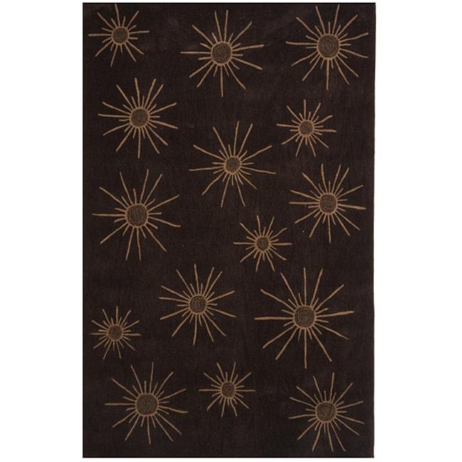 Dynasty Hand-tufted Brown/ Tan Rug (3'6 x 5'6)