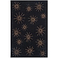 Dynasty Hand-tufted Black/ Tan Rug (5'0 x 7'9)