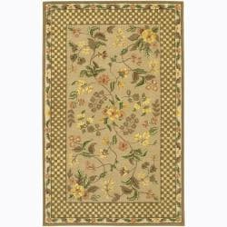 Hand-tufted Mani Floral Wool Rug (7'9 x 10'6)