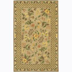 Hand-tufted Mani Floral Wool Rug (5' x 7'6)