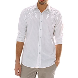 191 Unlimited Men's White Stripe Shirt