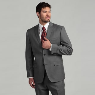 Joseph Abboud Men's 2-button Grey Stripe Wool Suit