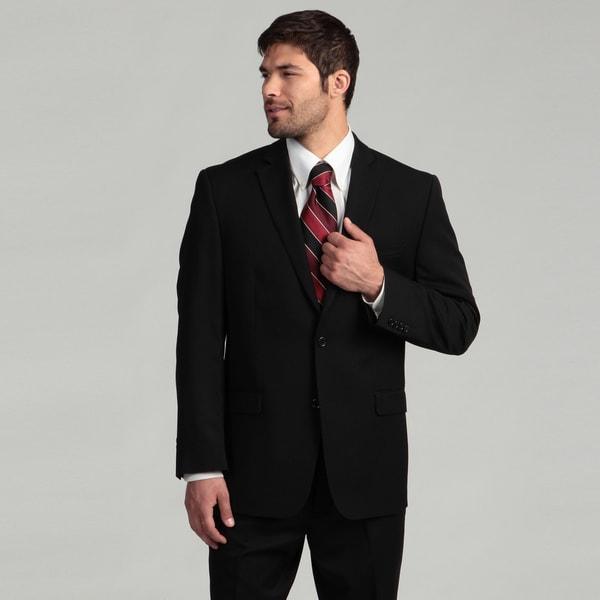 Joseph Abboud Men's 2-button Black Wool Suit