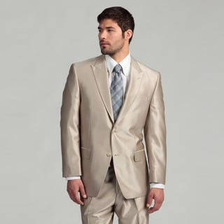 Sean John Men's 2-button Tan Wool Suit  FINAL SALE