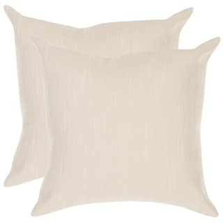 Poolside 20-inch Outdoor Cream Pillows (Set of 2)
